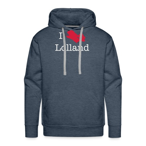 I love Lolland -brun Hoody - Herre Premium hættetrøje
