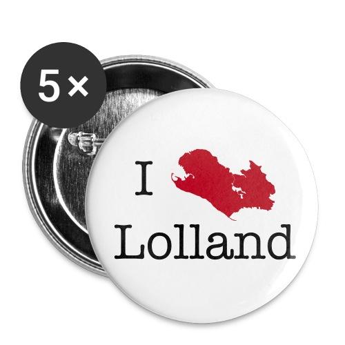 I love Lolland -badges - Buttons/Badges stor, 56 mm