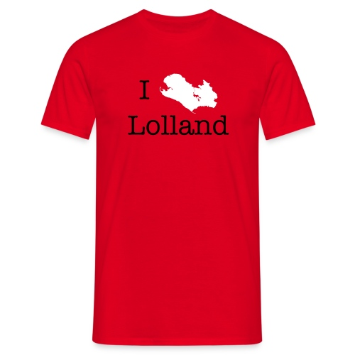 I love Lolland -rød T-shirt - Herre-T-shirt
