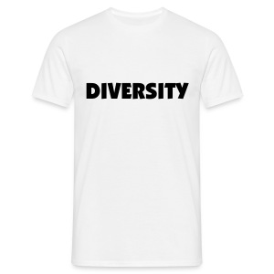 White T-Shirt with Black Text - Men's T-Shirt