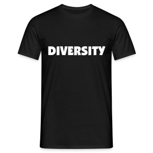 Black T-Shirt with White Text - Men's T-Shirt