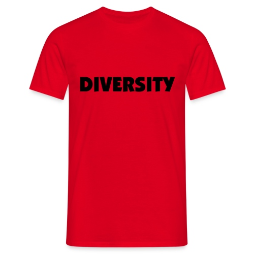 Red T-Shirt with Black Text - Men's T-Shirt