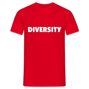 Red T-Shirt with White Text - Men's T-Shirt