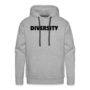 Grey Hooded Sweatshirt with Black Text - Men's Premium Hoodie