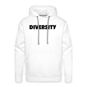 White Hooded Sweatshirt with Black Text - Men's Premium Hoodie