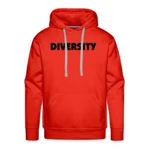 Red Hooded Sweatshirt with Black Text - Men's Premium Hoodie