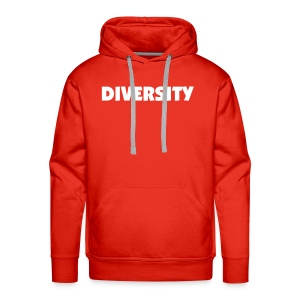 Red Hooded Sweatshirt with White Text - Men's Premium Hoodie