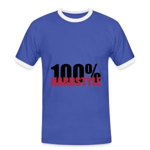 100% hardstyle - Mannen contrastshirt