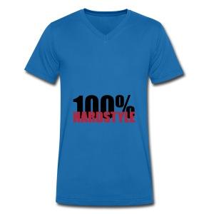 100% hardstyle - Mannen bio T-shirt met V-hals van Stanley & Stella