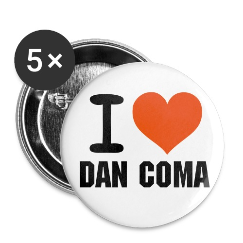 I love Dan Coma Button - Buttons groß 56 mm