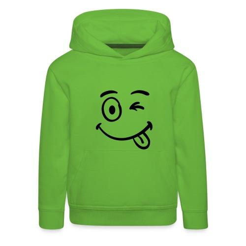 Kindersweater smiley - Kinderen trui Premium met capuchon