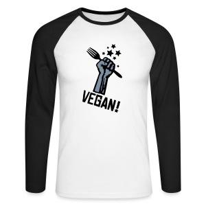 Mens Longsleeve 'RF VEGAN!' Base - Männer Baseballshirt langarm