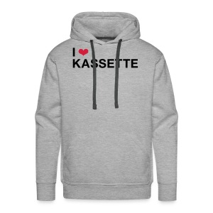 I Love KASSETTE - Men's Hooded Sweatshirt - Men's Premium Hoodie