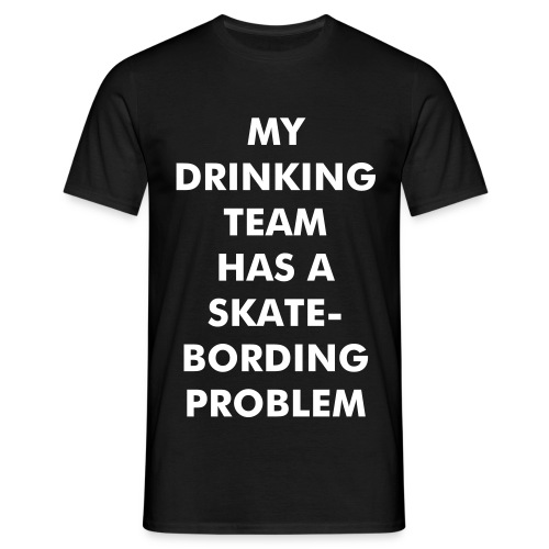 skatebording problem - Männer T-Shirt