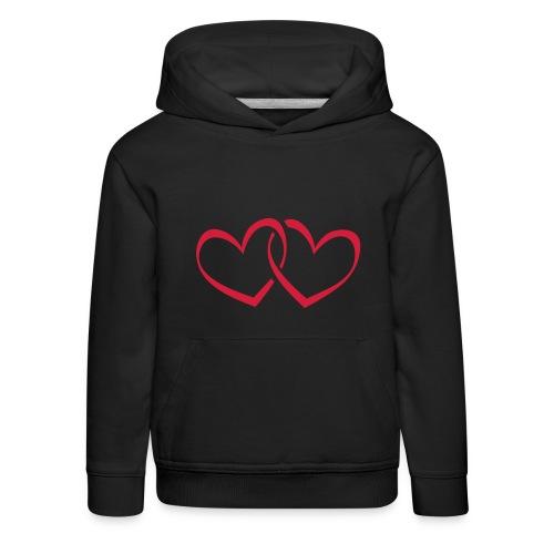 Kindersweater met hartjes - Kinderen trui Premium met capuchon