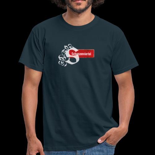 Männer T-Shirt: Schanzenviertel mit Tattoo-Initial - Männer T-Shirt