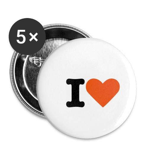 Confezione da 5 spille piccole (25 mm)