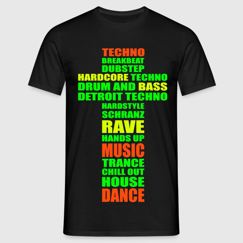 Techno music is my religion. T-Shirts - Men's T-Shirt