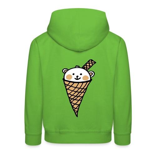 Eisbaer - kleines Motiv 3farbig - Kinder Premium Hoodie