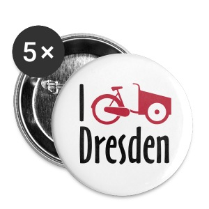 I Bike Dresden - Lastenrad-Badge - Buttons klein 25 mm