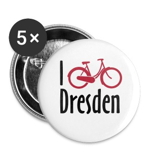 I Bike Dresden - Badge - Buttons klein 25 mm