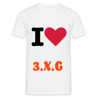 T-Shirts ~ Men's T-Shirt ~ I Love 3.X.G