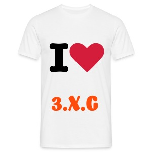 I Love 3.X.G - Men's T-Shirt