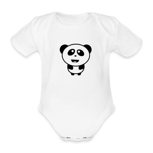 Panda - Organic Short-sleeved Baby Bodysuit