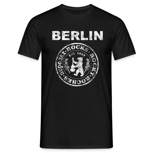 Berlin Rockt Vintage  Männer Shirt - Männer T-Shirt