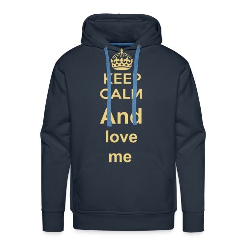mannen sweater trui keep calm and love me - Mannen Premium hoodie