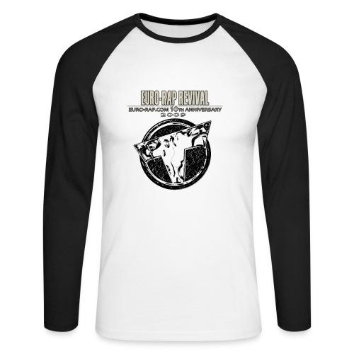 Euro-Rap Revival T-shirt with long arms - Men's Long Sleeve Baseball T-Shirt