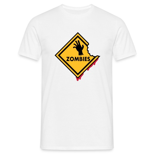 Warning Zombie - T-shirt Homme