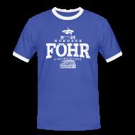 T-Shirts ~ Männer Kontrast-T-Shirt ~ Föhr Nordsee (weiss oldstyle)