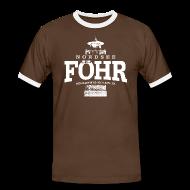 T-Shirts ~ Männer Kontrast-T-Shirt ~ Föhr Nordsee (weiss)