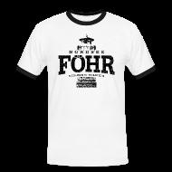 T-Shirts ~ Männer Kontrast-T-Shirt ~ Föhr Nordsee (schwarz oldstyle)