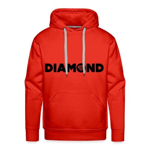 Sweat a Capuche Rouge .#Diamond.# - Sweat-shirt à capuche Premium pour hommes