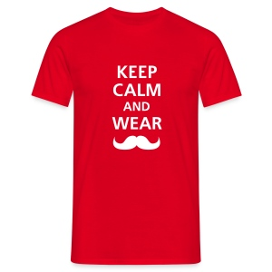 KEEP CALM - RED - Camiseta hombre