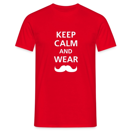 KEEP CALM - RED - Camiseta hombre