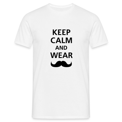 KEEP CALM - WHITE - Camiseta hombre