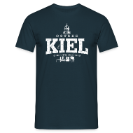 T-Shirts ~ Männer T-Shirt ~ Kiel Ostsee (weiss oldstyle)