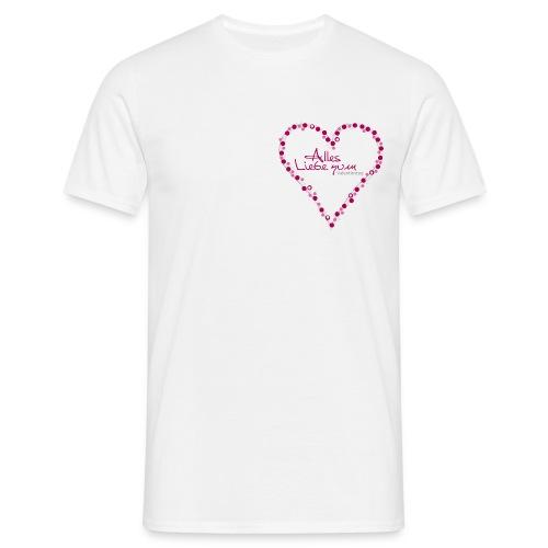 Valentinsherz - Männer T-Shirt