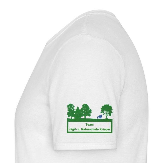 Standart Shirt weiß Logo Ärmel