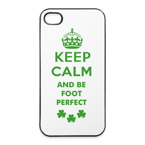 Keep Calm and be Foot Perfect iPhone 4/4s case  - iPhone 4/4s Hard Case