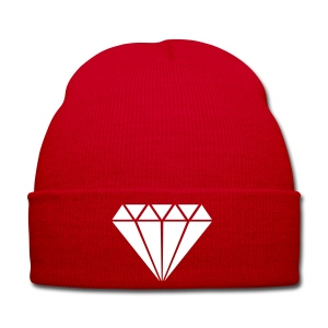 Knit - Red/White - Diamond - Winter Hat