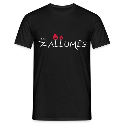 T-shirt Homme - Tshirt double flamme pour homme  2017 - Les Z'allumés de Rodemack Compagnie Théâtrale