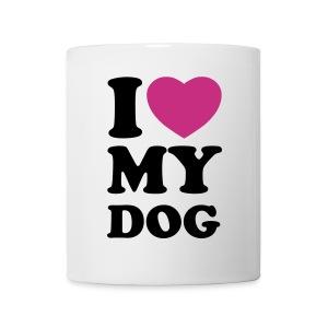i love my dog - Mug