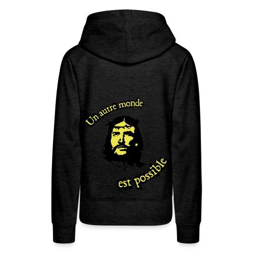 Jésus révolution - Sweat-shirt à capuche Premium pour femmes