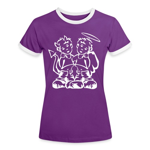 Ange et démon - T-shirt contrasté Femme