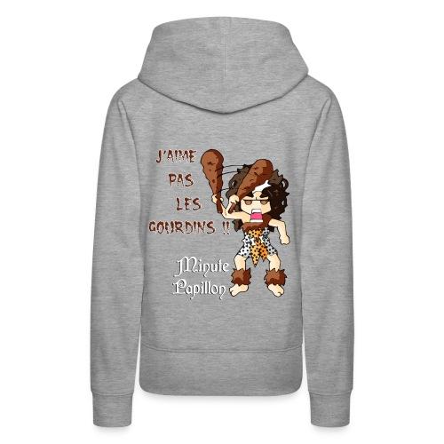 Mini-Kriss - J'aime pas les gourdins - Sweat femme - Sweat-shirt à capuche Premium pour femmes