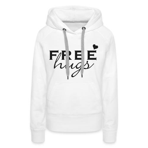 Free Hugs glitter - Women's Premium Hoodie